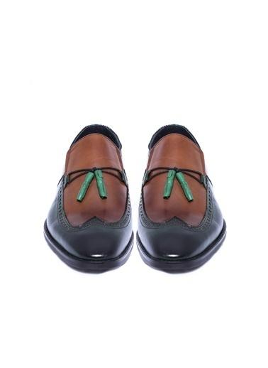 Wessi %100 Deri Loafer Ayakkabı Yeşil